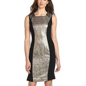 Magaschoni Gold Jacquard Ponte Dress